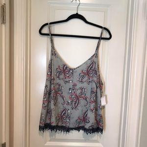 NWT Charlotte Russe Gary Paisley Crop Top
